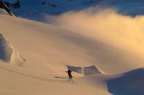 Back to base camp after first ascent of Mt Cornu. Antarctic Peninsula
