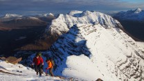Approaching the summit of Sgurr Mhor from the Horns of Alligin