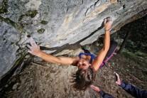 Bouldering session at Lovrinac bouldering area in Split, Dalmatia. Photo by: Luka Kivela