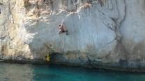 Deep water soloing at Ciovo Island near Split. The best deep water solo in Dalmatia!