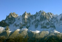 The Aiguilles from The Brevent