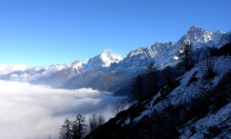 Cloud inversion, Chamonix valley