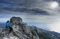 Soaking up the view from Bernia ridge, Costa Blanca (Spain)