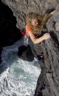 A Fight to the Top..Go Girl! Alis at Bulliber, a great little 'playground' in Range West - Vegetarian, S 4a