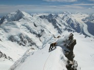 Start of the summit ridge on Mt Cook