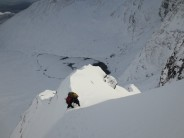 Retreating from Staghorn Gully in heavy powder