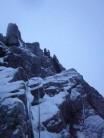 Castle ridge crux.