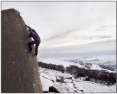 Stanage in winter (thanks to Ian Hill for the digital darkroom work again)