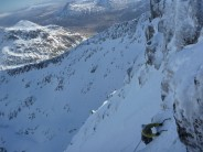 One of the French guys on NEB with us taking a slightly different route to the mantrap