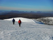 Summit of Beinn Dearg, fine views of Coigach and the sea in the bachground