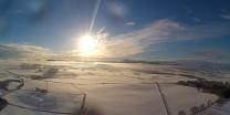 Bennachie in winter from a radio controlled plane