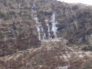Craig Cwm-Du Brecon Area showing Left and Right icefall routes