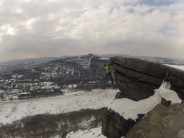 Soloing at Bamford Edge