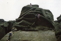 Flying buttress at Stanage done 90's style