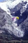 Paragliding above Grindlewald - we were both flying from nr the Gleckstein Hut back to Grindlewald.