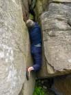 Chris getting stuck into Hollybush Gully