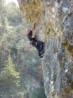 Rich on Valley of the Blind, 7c, Lion Rock, Cheddar Gorge