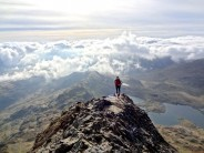 Crib Goch Run on Bank Holida Morning
