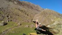 Bouldering on Honister Boulders