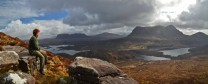 Suilven & Cul Mor seen from the Stac Polly path.
