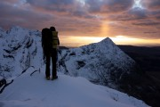 Sunset during a winter Cuillin Ridge Traverse<br>© alastairbegley