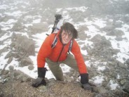 Summiting Ben Nevis (yes iam wearing tweed)