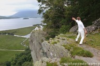 Extreme cricket. One of 12 locations for Threlkeld Cricket Club's fundraising calendar.