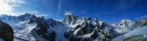 The panorama from above the Couvercle hut