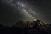 The Marmolada by night.<br>© James Rushforth