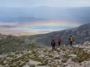 Descent from Lochnagar after climbing Eagle Ridge