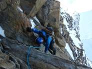Descending the SE ridge of the Dufourspitze