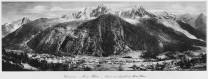Panorama of the Chamonix valley early c20, original photographer possibly Georges (I) Tairraz?