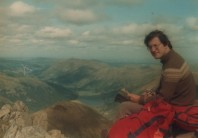 Atop Red Screes more than 30 years ago.