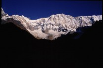 Annapurna South Face from the southern base camp; a first taste of the Himalayas.