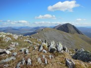 Looking north-east along the ridge of Buachaille Etive Mor from Stob na Broige