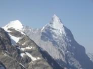Eiger, Lauper face from Wetterhorn bivi spot.