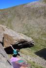 First ascent of Supergene, below Dow Crag.