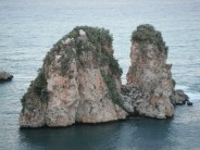 Scopello Sea Stacks - Scoped Out on left stack to starting to right of corner.