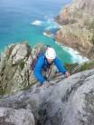 Nathan on Bosigran ridge