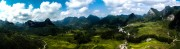 Panorama of Getu Valley, taken from pitch 3 of Le Casee-tete Chinois<br>© papashango