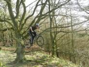 Extreme biking in the Peak