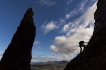Scrambler silhouette, Trotternish Ridge, Isle of Skye
