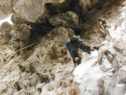Sport climbing at Pha Deang Mountain, Laos
