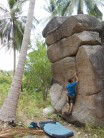 Bouldering at Secret Garden on Ko Tao, Thailand