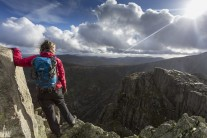Soaking up the views atop Tryfan