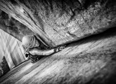 Elsie Lemordant on Incredible Hand Crack (5.10+).<br>© Alex Buisse