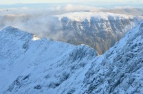 Striding Edge from the east face of Helvellyn