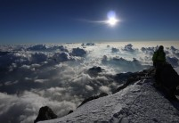 Clouds bubble in the East, from the Summit of the Zumsteinspitze (4,563 m)