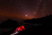 Under the stars. Above the clouds.