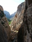 Beautfiful view up the Gorge towards los Cotos and El Polverin